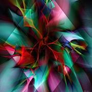 Poinsettia Warm Diamond  Print by Elizabeth McTaggart