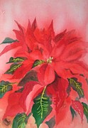 Poinsettia Print by Yoshiko Mishina