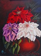 Wildlifeartgallerie Galleries - Poinsettias in a Clay Pot