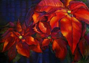 Bold Pastels Posters - Poinsettias Poster by JAXINE Cummins
