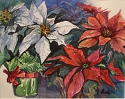 Judy Fisher Walton - Poinsettias with Gifts