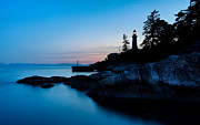 Dark Blue Framed Prints - Point Atkinson Lighthouse Framed Print by Alexis Birkill