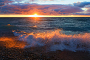 Point Betsie Sunset Print by Craig Sterken