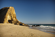 Contemporary Photo Posters - Point Dume at Zuma Beach Poster by Adam Romanowicz