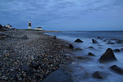 Ri Lighthouse Prints - Point Judith lighthouse Print by Andrea Galiffi