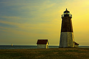 Point Judith Lighthouse Print by Diane Diederich