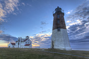 Ri Lighthouse Prints - Point Judith Lighthouse Print by Jeff Bord