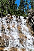 Point Park Digital Art Posters - Point Lace Falls in Yoho NP-BC Poster by Ruth Hager