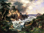 Thomas Moran - Point Lobos Monterey California by Thomas Moran