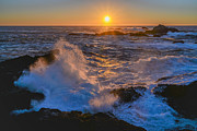 Ocean Images Prints - Point Lobos Sunset Print by About Light  Images