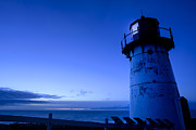 Blue Pastels Prints - Point Montara Lighthouse Print by Francesco Emanuele Carucci