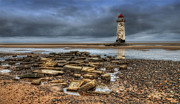 Talacre Digital Art Framed Prints - Point Of Ayr Lighthouse Framed Print by Darren Wilkes