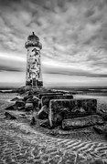 Storm Digital Art Posters - Point of Ayre Lighthouse Poster by Adrian Evans