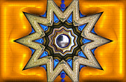 Star Points Posters - Point of View - Gold Poster by Wendy J St Christopher