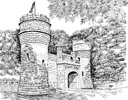 Tennessee Drawings Originals - Point Park by Robert A Powell