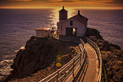Wooden Building Prints - Point Reyes Lighthouse Print by Garry Gay