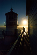 Uscg Prints - Point Reyes Lighthouse Print by Jerry McElroy