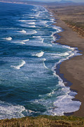 National Seashore Photos - Point Reyes Long Beach by Garry Gay