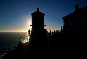 Uscg Prints - Point Reyes Silhouette Print by Jerry McElroy