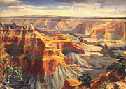 Us Open Painting Posters - Point Sublime - Grand Canyon AZ. Poster by Art By Tolpo Collection
