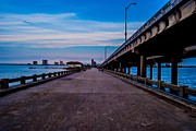Pensacola Fishing Pier Framed Prints - Point to the Center Framed Print by Jon Cody