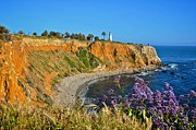 Landscapes Tapestries Textiles Originals - Point Vicente Lighthouse by Matt MacMillan
