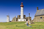 Editorial Metal Prints - Pointe Saint Mathieu Brittany France Metal Print by Colin and Linda McKie
