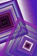 Pointillism And Purple On Geometric Art  Print by Mario  Perez