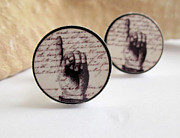 Accessories Jewelry - Pointing Fingers Cuff Links by Rony Bank