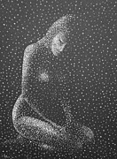 Pointillism Art - Points of Light in black and white by Douglas Case