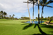 Golf Course Photo Framed Prints - Poipu Bay #18 Framed Print by Scott Pellegrin