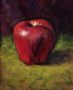 Apple Painting Originals - Poison Apple by Ann Moeller Steverson