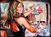 Bartender Paintings - Poison Control by Drew Eurek