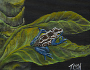 Dart Paintings - Poison dart frog by John Garland  Tyson