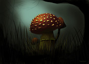 Signed Digital Art Posters - Poisonous Beauty Poster by Piotr Pociecha