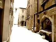 Studio Maeva Framed Prints - Poitiers With Snow Framed Print by Studio Maeva