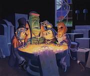 Poker Buddies Print by Richard Moore