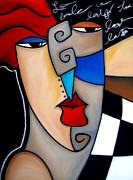Pop Art Mixed Media Originals - Poker Face by Fidostudio by Tom Fedro - Fidostudio