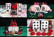 Photo Collage Prints - Poker Hands Collage Print by John Rizzuto