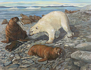 ACE Coinage painting by Michael Rothman - Polar Bear