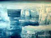 Abstract Wildlife Paintings - Polar Bear by Charlie Baird