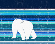 Nanook Art - Polar Bear Horizontal by Janet Carlson