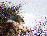 Alice Ramirez Art - Polar Bear in Willows by Alice Ramirez