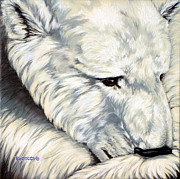 Buffalo River Paintings - Polar Bear by Lina Tricocci