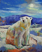 Polar Bears Paintings - Polar Bear by Michael Creese