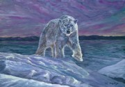 Polar Bears Paintings - Polar Bear by Tom Blodgett Jr