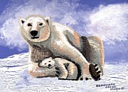 Genevieve Esson - Polar Bear With Cub