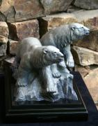 Arctic Sculptures - Polar Bears - Arctic Companions by Mike Curtis