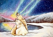 Debrah Nelson - Polar Bears Enjoy Aurora...