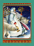 Santa Painting Metal Prints - Polar Magic Metal Print by Lynn Bywaters